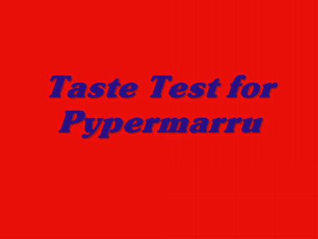 tastetest