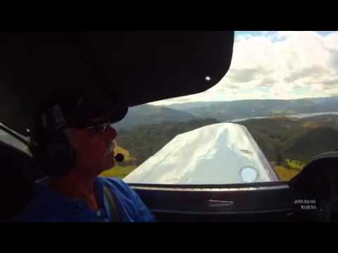 Sunny morning flight over Bogota sabana