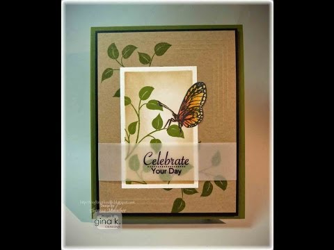 Sweet Butterfly with Vellum Sentiment