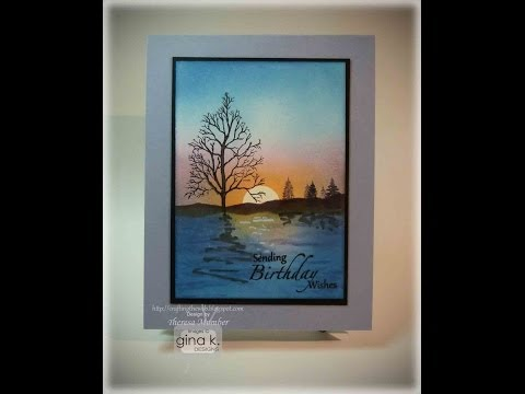 Tranquil Birthday Card Project- Theresa Momber