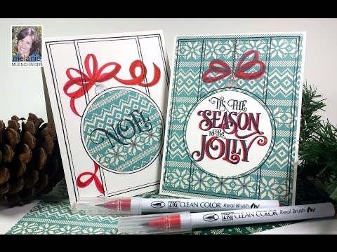 How to Paper Piece and Hand Draw Accents: Clean and Simple Christmas