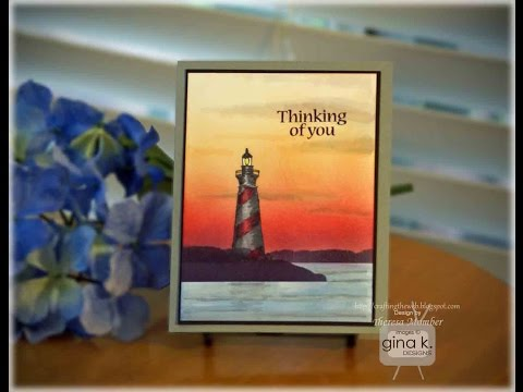 Lighthouse Sunset Card