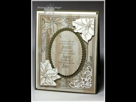 Faux White Washed Wood  & Fancy Corners with Festive Frame