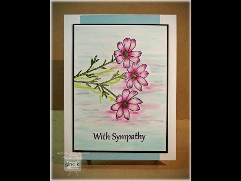 Refective Flowers Card