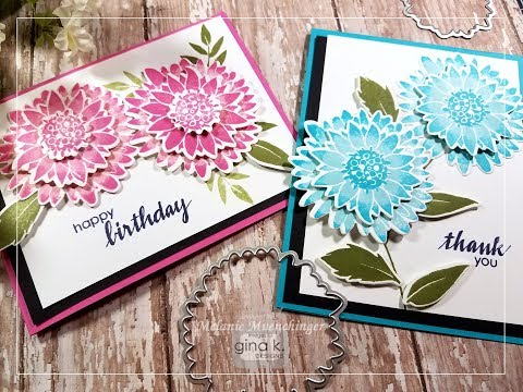 Create Rolled Layered Blooms with Pressed Flowers 2 Dies and Stamps