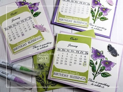 Video Vintage Seed Packet Calendar with Stately Flowers 10 and 12