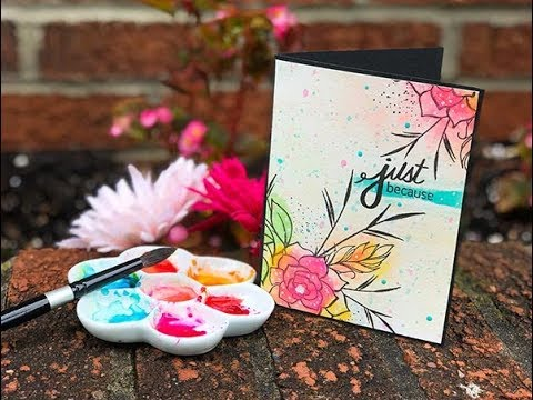 Craft Your Joy Card Tutorial: Watercolor with Dye Inks + Gouache