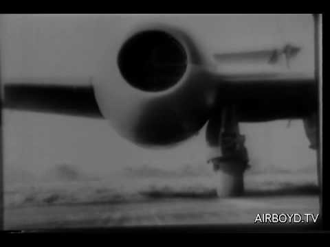 """Gloster Meteor Jet """"Britannia"""" Sets World Speed Record 1945"""