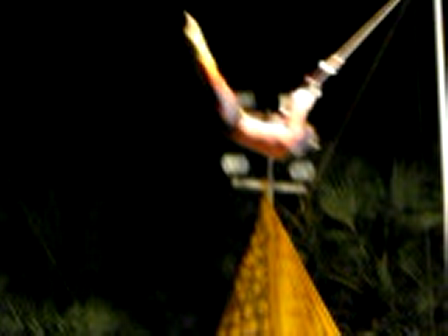 Planche Blindfolded! Adam at Club Med Phuket
