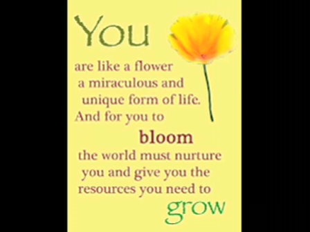 You are a flower - the movie!