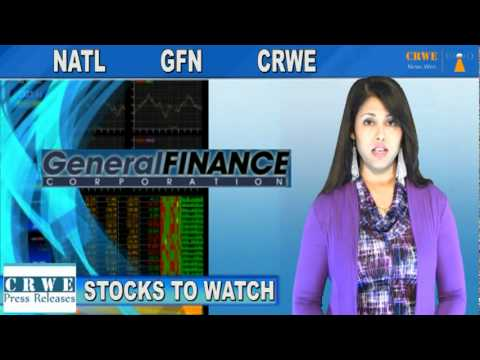 (CRWE, GFN, NATL) CRWENewswire.com Stocks to Watch