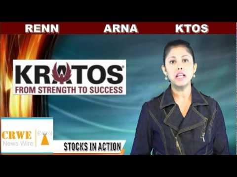 (RENN, KTOS, ARNA) CRWENewswire.com Stocks In Action