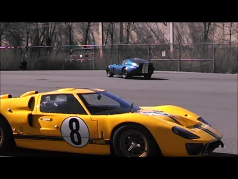 Daytona Coupe and Ford GT40 MkIV Driving At Demo Day Simeone Foundation Museum