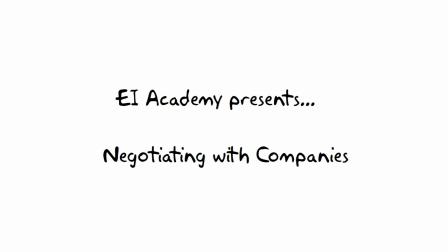 10. Who Negotiates? --- EI Academy