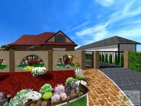 3D plán záhrady