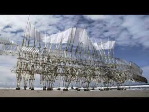Tribute to Theo Jansen's kinetic sculptures
