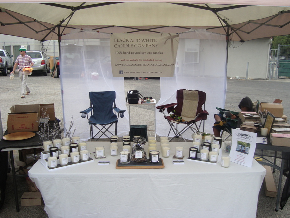 Our candle booth