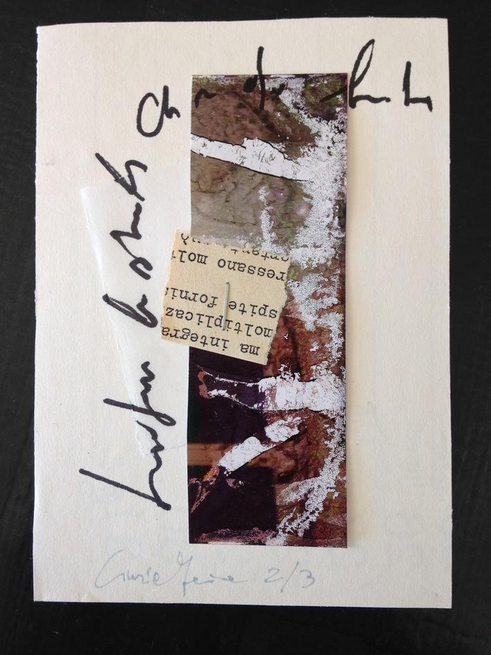 """Cinzia Farina - """"Graffiti di terra scritta"""", 2/3 per Yayoi S. W."""