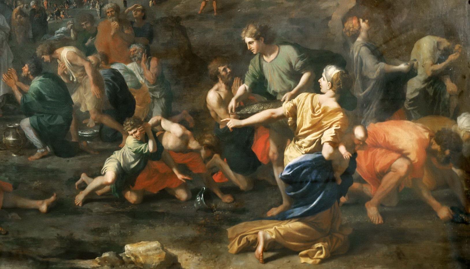 ნიკოლა პუსენი, მხატვრობა, ბიბლია, ციური მანანა