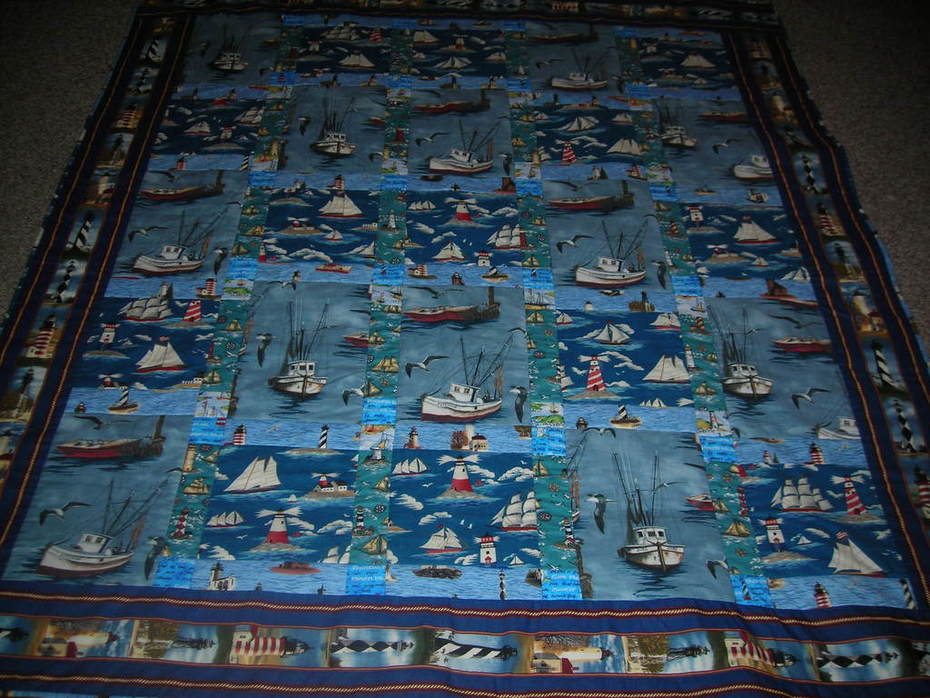 """Boats Galore"" Quilt"