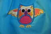 close up of owl applique