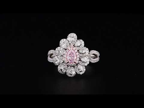 0.26CT Pink Diamond Ring Online from Asteria Diamonds