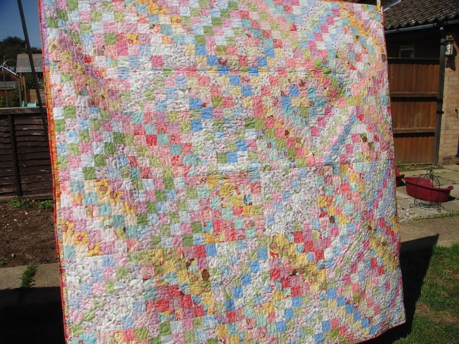 Pastel Patchwork Diamonds Quilt