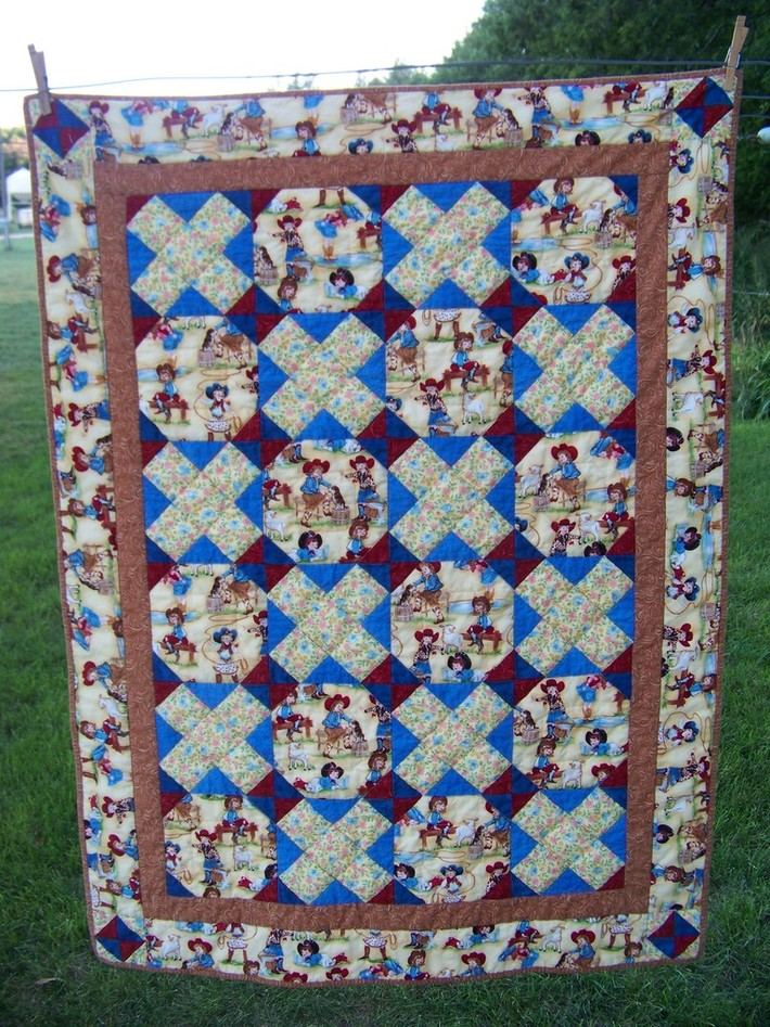 Cowgirl Hugs & Kisses Quilt
