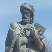 Avicenna's statue in Dushanbe, Tajikistan