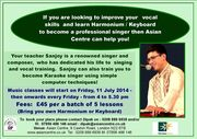 FREE TASTER! Music Classes: Indian vocals, ghazals and Bollywood songs based on ragas