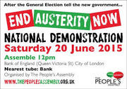 PEOPLES ASSEMBLY ANTI AUSTERITY DEMONSTRATION