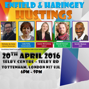 Enfield and Haringey London Assembly Hustings