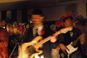 """Nick Tsiamtsikas Blues Report live at """"Ypogeio Boheme""""."""