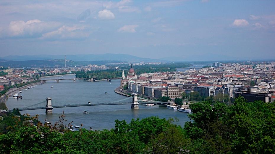Budapest, View from Gellert-hill