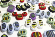 Crocheted Cotton and Fused Glass Necklaces