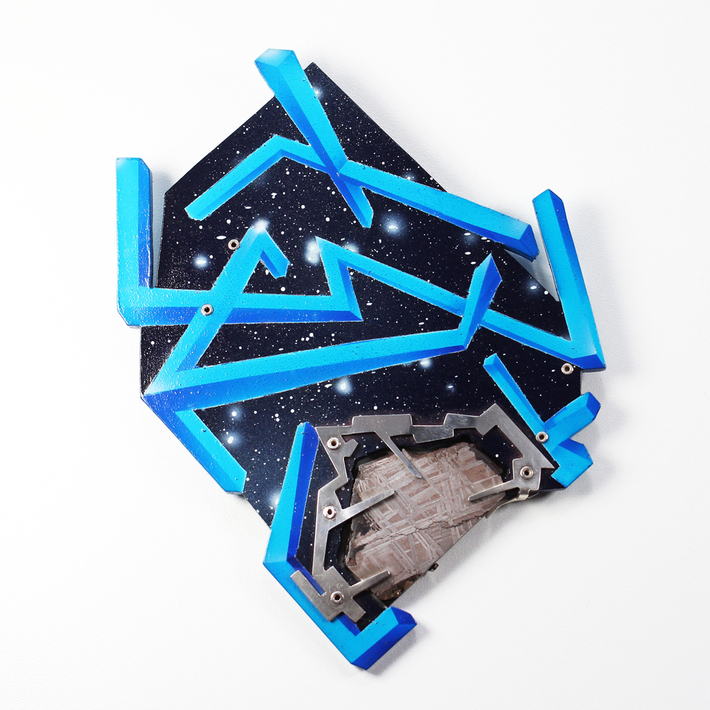 Unnatural Selection Brooch with meteor slice