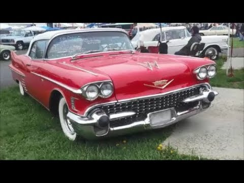 Checking Out Classic Cars With Pam 1958 Cadillac Series 62 Convertible  At the 2019 Spring Carlisle