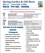 Burlington Parks & Recreation Garden & Gift Show --- and the free workshops on gardening and sustainability