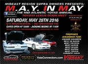 Mideast Region Supra Owners present the 2016 M.A.Y. in May