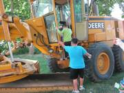 """4th Annual """"Heavy Equipment Petting Zoo"""" of Real Construction Trucks at America On Wheels Museum"""