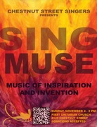 Chestnut Street Singers presents Sing, Muse! Music of Inspiration and Invention