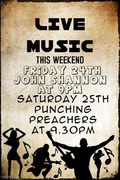 Live Music this Friday 24th and Saturday 25th