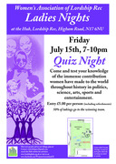 Special Ladies Night - Quiz evening!