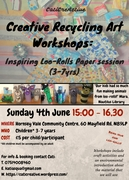 Creative Recycling Art Workshop - Loo-Rolls Paper Session (children 3-7yrs)