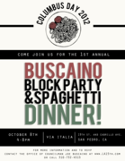 First-Ever Buscaino Block Party & Spaghetti Dinner