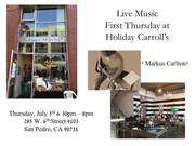 First Thursday at Holiday Carroll's