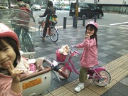 With my daughters at Oike street