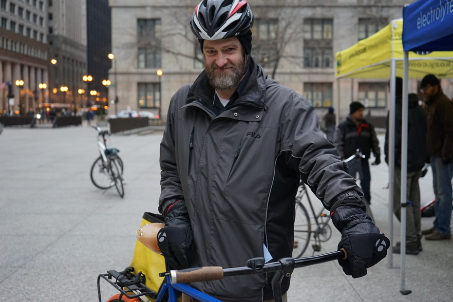 """Regular Commuter - """"This event was freezing last year,"""" he said."""