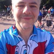 In Bozo cycling jersey on perimeter ride 2015