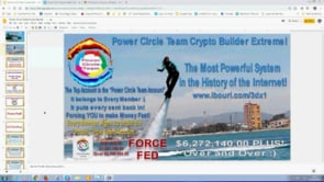 Force Fed, Self Building Power Circle Crypto Builder $20 Dollars to Over $6 Million Webinar Replay 1st May 2019